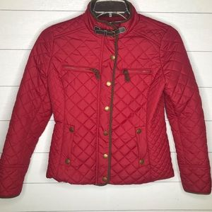 BODEN City Padded Jacket Coat Red Size 6